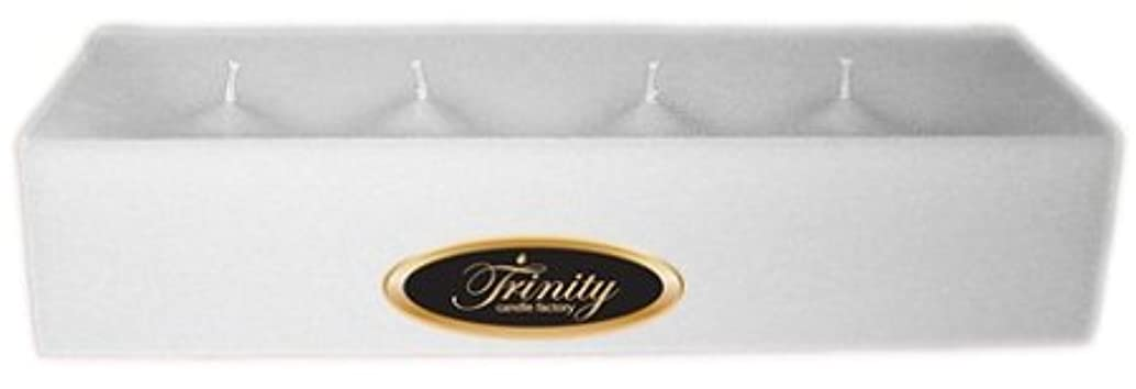 Trinity Candle工場 – Fresh Linen – Pillar Candle – 12 x 4 x 2 – ログ