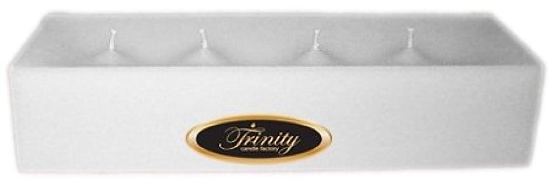 伝記文言後ろ、背後、背面(部Trinity Candle工場 – Fresh Linen – Pillar Candle – 12 x 4 x 2 – ログ