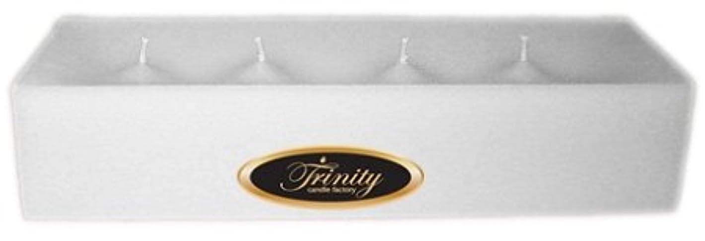 王女借りている解釈的Trinity Candle工場 – Fresh Linen – Pillar Candle – 12 x 4 x 2 – ログ