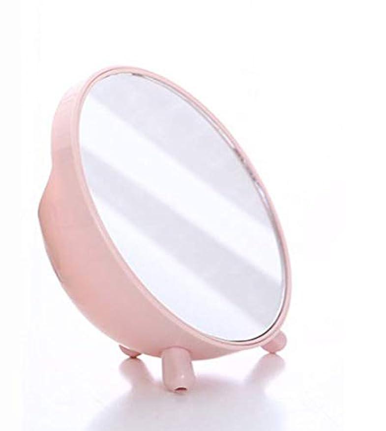 洪水のど口頭化粧鏡、収納ボックス化粧ギフトとピンクのシンプルなラウンドテーブル化粧鏡
