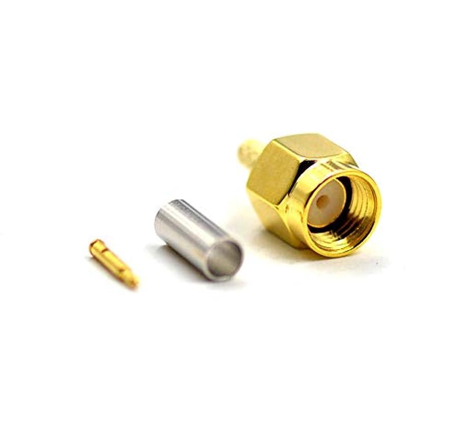 ボタンヒゲジャーナル10pcs sma-male-plugクリンプアダプタfor rg188 rg178 rg316 rg174 a-u / lmr100 a / rfc100 aケーブル高値Pure Copper