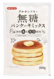 グルテンフリー無糖パンケーキミックス 200g×10個          JAN:4902939180630