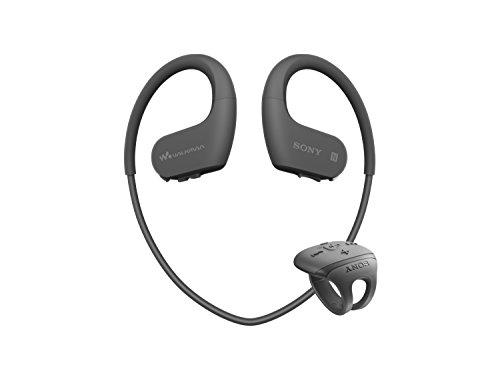 ソニー SONY ヘッドホン一体型ウォークマン Wシリーズ NW-WS625 : 16GB スポーツ用 Bluetooth対応 防水/海水/防塵/耐寒熱性能搭載 外音取込み機能搭載 リングタイプリモコン付属 ブラック NW-WS625 B