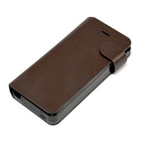 日本トラストテクノロジー Leather Battery Case for iPhone5 Dark Brown YJ-H60-DB