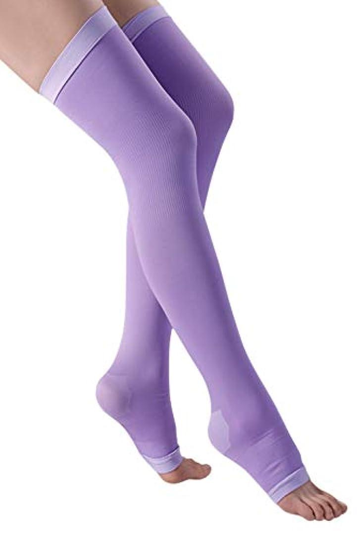ちょっと待って道路旋律的着圧ソックス レディース ロング 健康?美容ソックス 着圧 靴下