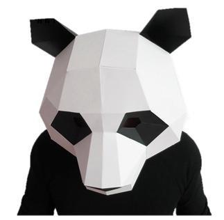 MeRaPhy) 子供用 パンダ マスク 紙で作る マスク ペーパー アート 上質紙 組立 DIY ...