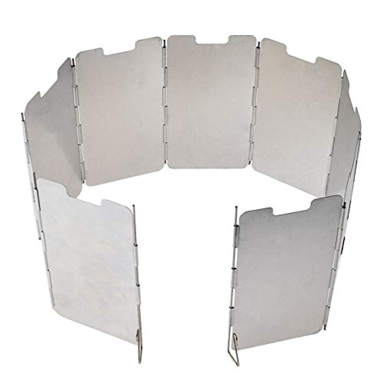 効果的オーブン発見するアルミ製ウインドスクリーン 風除け板 9枚パネル 高さ13.5cm 折畳式 軽量アルミ板 コンロの屋外使用に 着火補助 防風パネル 収納袋付 FMTDF135
