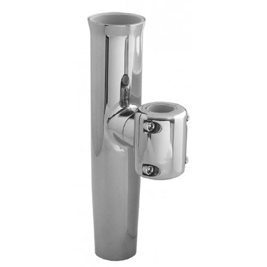 フィッティング算術舌Taco Metals F16-2600POL-1 TACO Stainless Steel Clamp-On Adjustable Rod Holder - Fits 7-8
