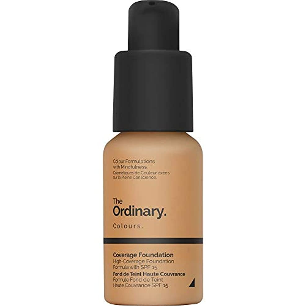 [The Ordinary ] 通常のカバレッジ基盤Spf15 30ミリリットル3.1 Y - ダーク - The Ordinary Coverage Foundation SPF15 30ml 3.1 Y - Dark...