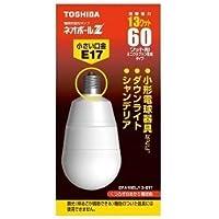 東芝 電球形蛍光灯 EFA15EL/13-E17 電球色 60W形 1ケース 10個入