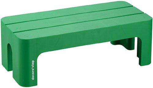 踏台 ポリプロピレン デコラステップL グリーン 20cm DS-LG 1個 (直送品)