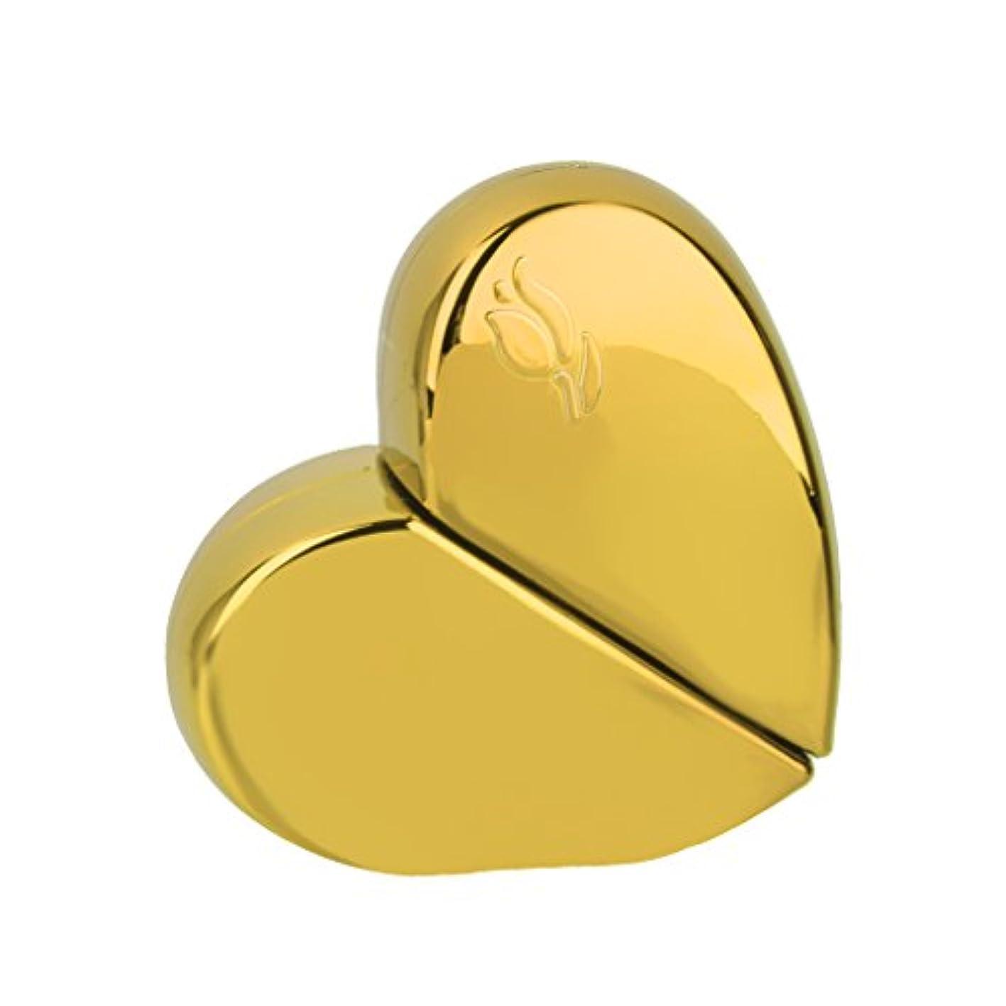 【ノーブランド 品】旅行 香水アトマイザー 香水瓶 詰め替えスプレーボトル 25ml ゴールド ハート型