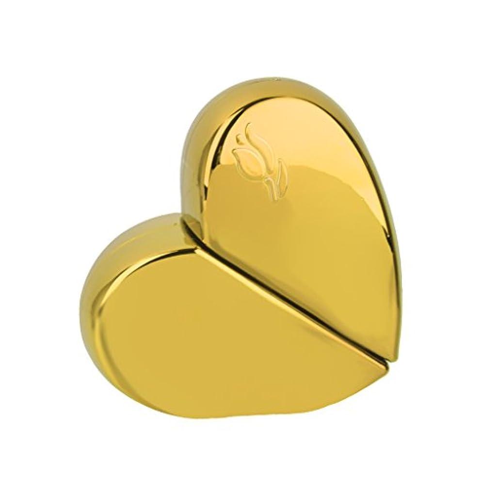 高度な池変数【ノーブランド 品】旅行 香水アトマイザー 香水瓶 詰め替えスプレーボトル 25ml ゴールド ハート型