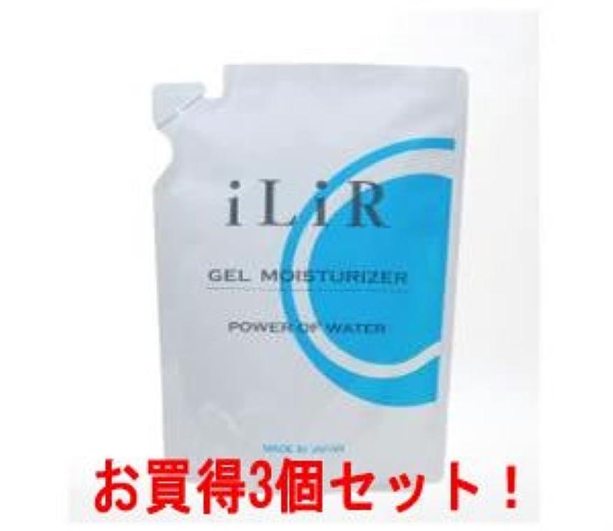 バケツ積分抜粋iLiR(イリアール)ゲルモイスチュアライザー500g(詰替用)(お買得3個セット)