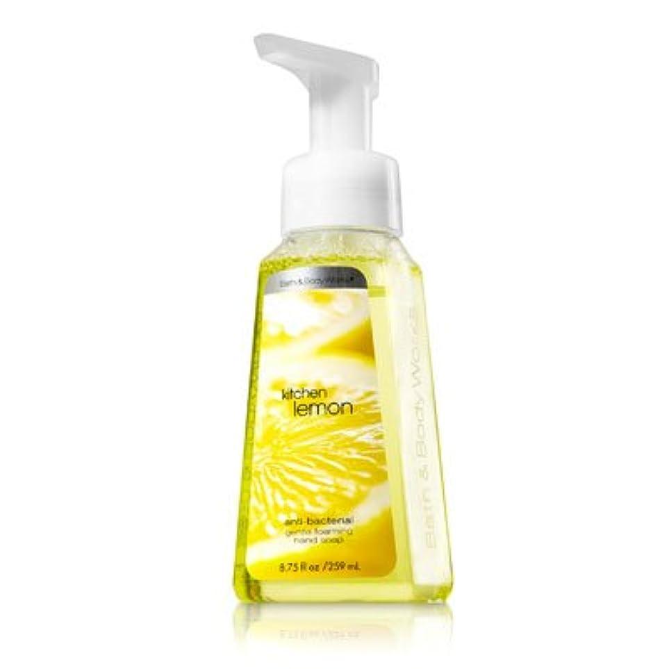 ライトニング入射凍ったバス&ボディワークス キッチンレモン ジェントル フォーミング ハンドソープ Kitchen Lemon Gentle Foaming Hand Soap【並行輸入品】