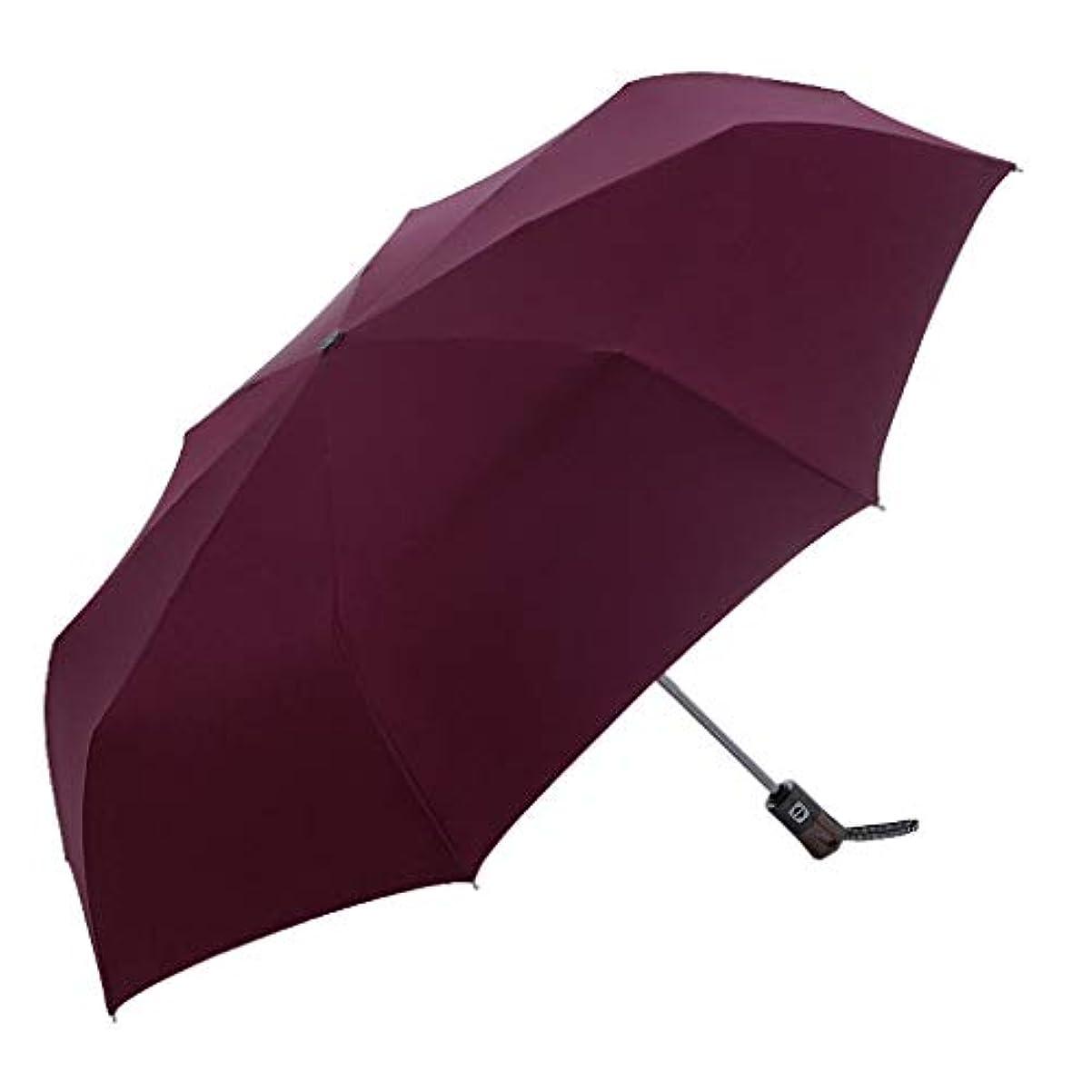 ゆるい枯渇する道路傘折りたたみ傘日除けUV傘パラソル (色 : Red)