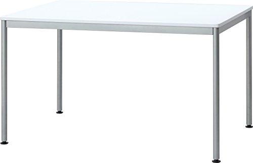ナカバヤシ テーブル オフィスデスク パソコンデスク 120x75cm ホワイト HEM-1275W