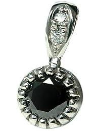 K18 ブラックダイヤモンド0.5ct×ダイヤモンド ペンダントトップ K18ホワイトゴールド