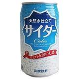 JAビバレッジ佐賀 天然水仕立て サイダー 350ml缶×24本入×(2ケース)