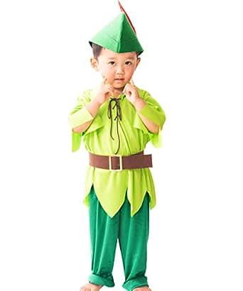 Smileまーけっと ハロウィン 衣装 仮装 コスチューム 子供 男の子 妖精 ピーターパン風 110-130cm