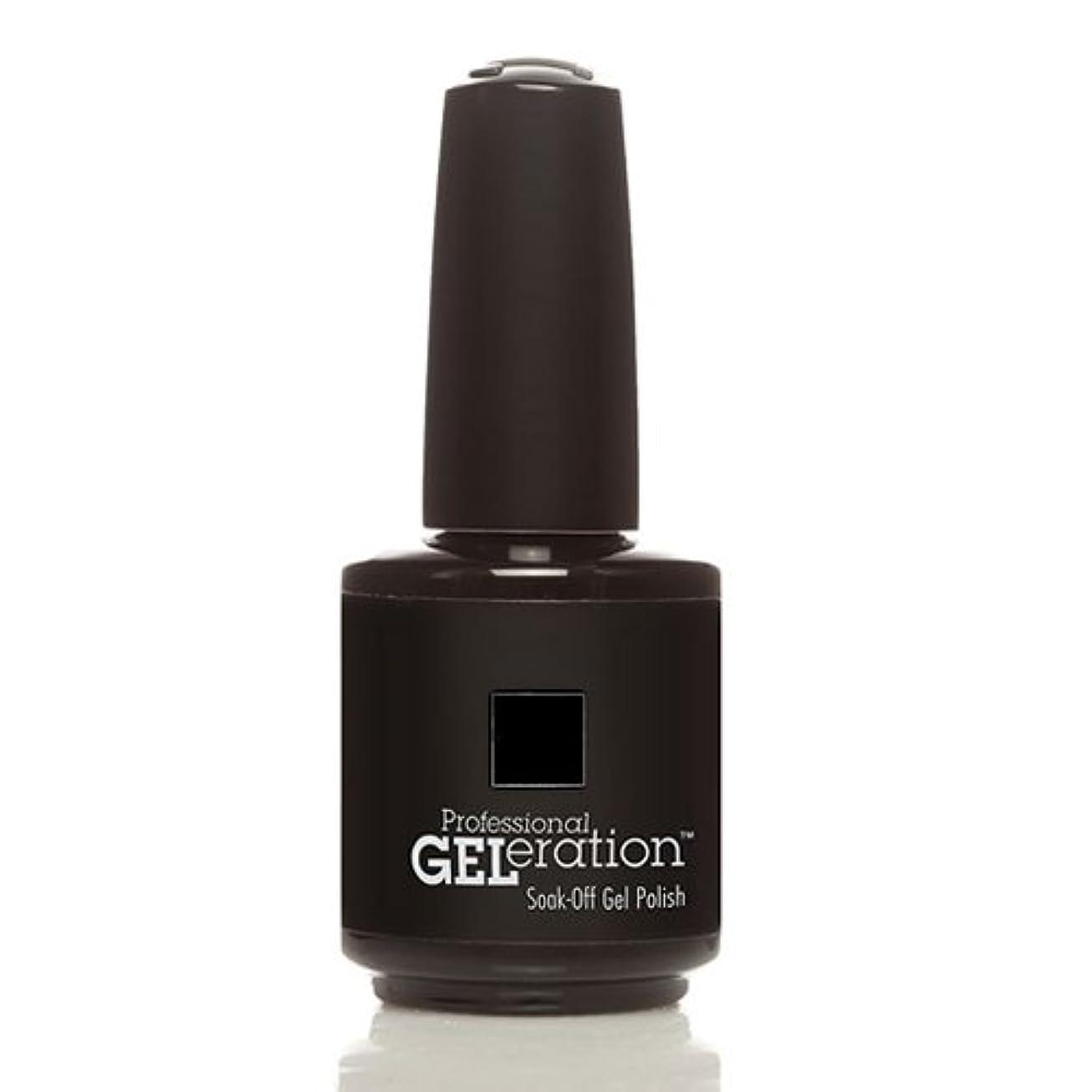 節約どんよりしたライナーJessica GELeration Gel Polish - Black Lustre - 15ml / 0.5oz