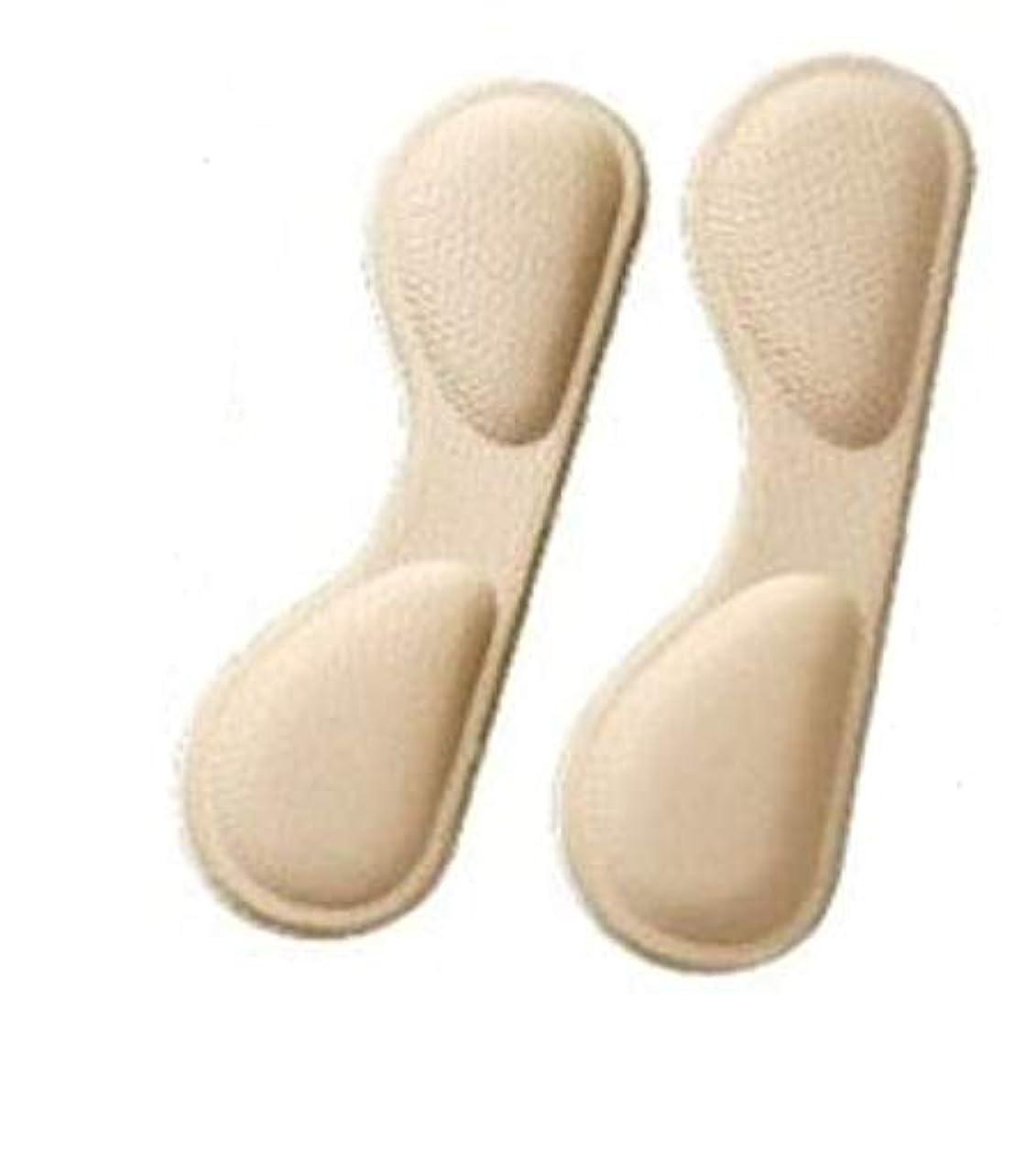 プロット利点ビジネス送料無料!WONDER LABO》やわらか 靴ずれ防止パッド 靴 かかと 脱げ 防止 踵 ヒール 柔らか素材 フットケア シューズケア インソール サポーター 肉厚 パカパカ 靴擦れ 防止パット (ベージュ)
