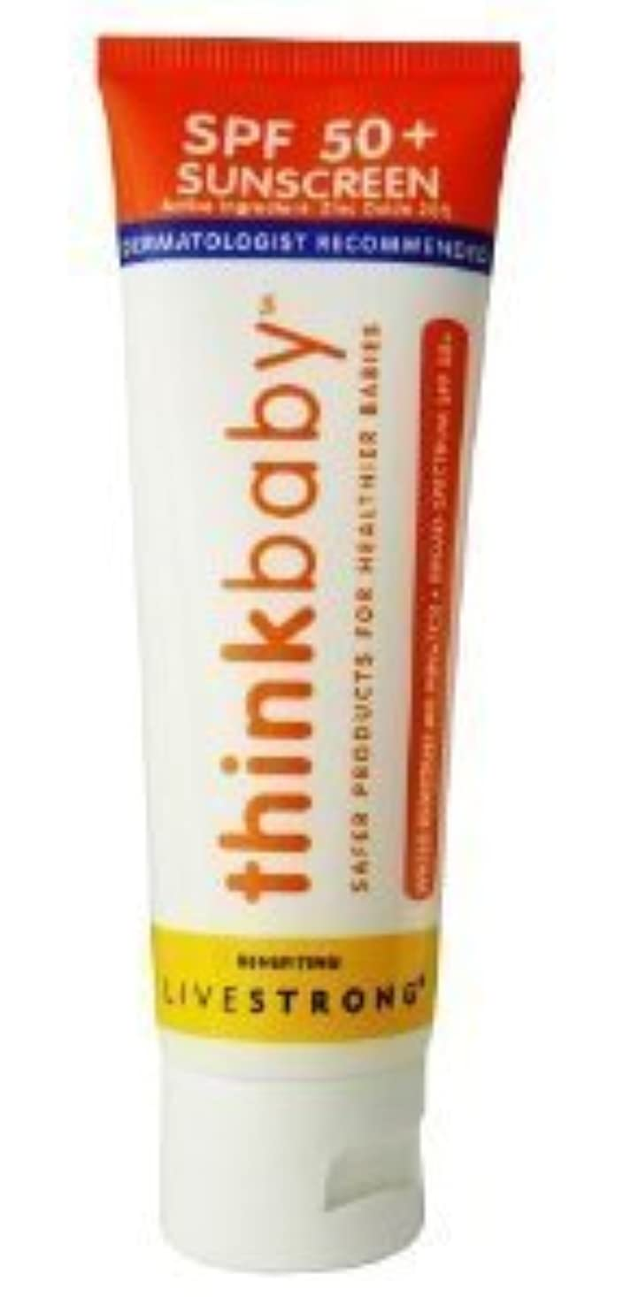 ブランチ例運賃Thinkbaby Safe Sunscreen SPF 50+ (3oz) by thinkbaby [並行輸入品]