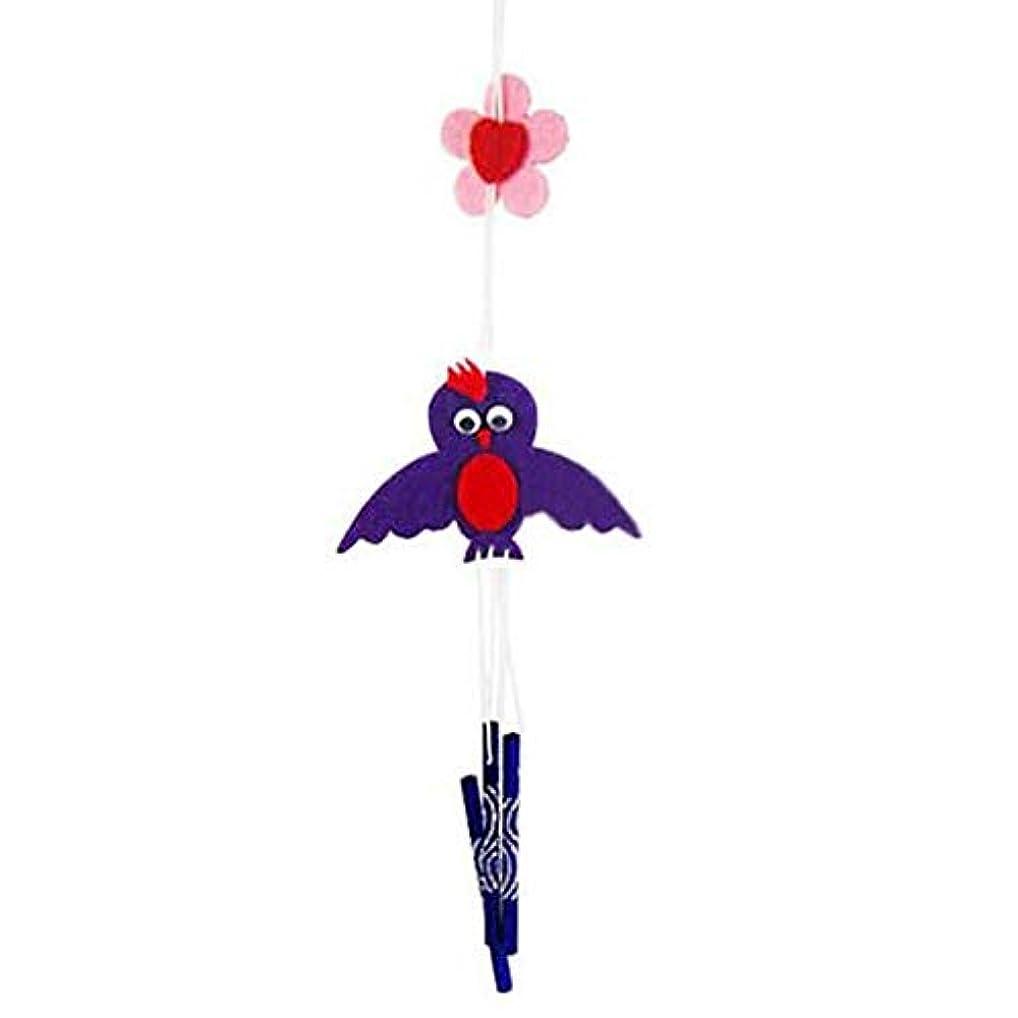 彼は不公平生むQiyuezhuangshi 風チャイム、クリエイティブ手作りDIY生産資材パッケージ風チャイム、パープル、全身について35CM,美しいホリデーギフト (Color : Purple)