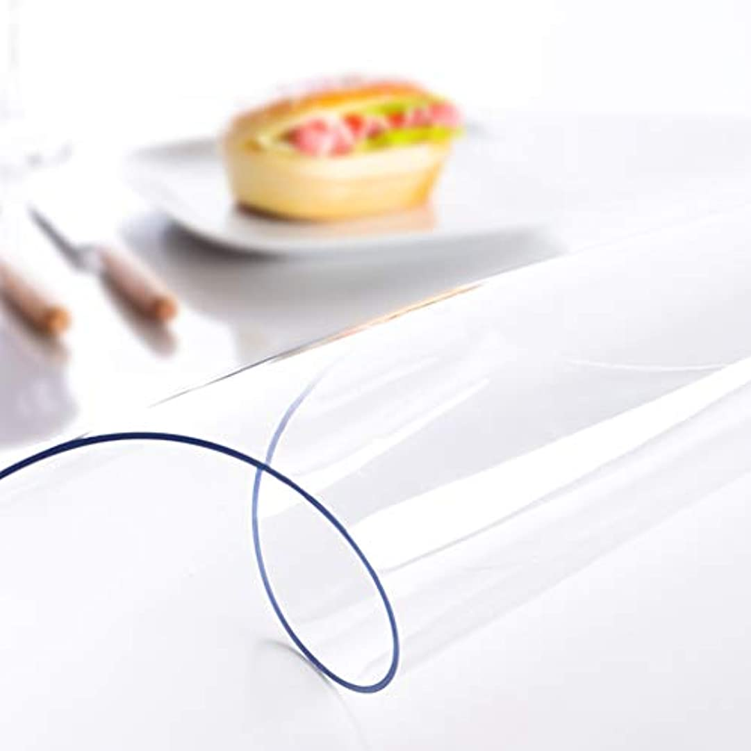 役員隠す美容師フィギュア きれいに拭く ビニール テーブルクロス,クリア プラモデル テーブルクロス 長方形 透明です テーブルクロス 防水 ソフト ガラス デスクプロテクターカバー- 80x120cm(31x47inch)