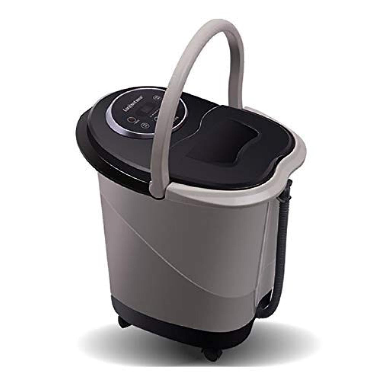 ZAQXSW 自動マッサージローラー足浴槽自動加熱深バレル発泡盆地多機能足マッサージ機ホーム