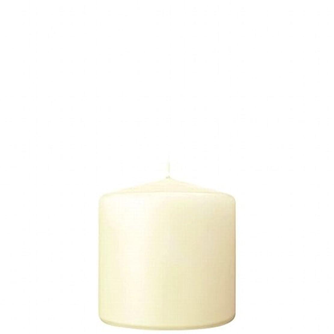 操縦する暴露する生物学カメヤマキャンドル( kameyama candle ) 3×3ベルトップピラーキャンドル 「 アイボリー 」
