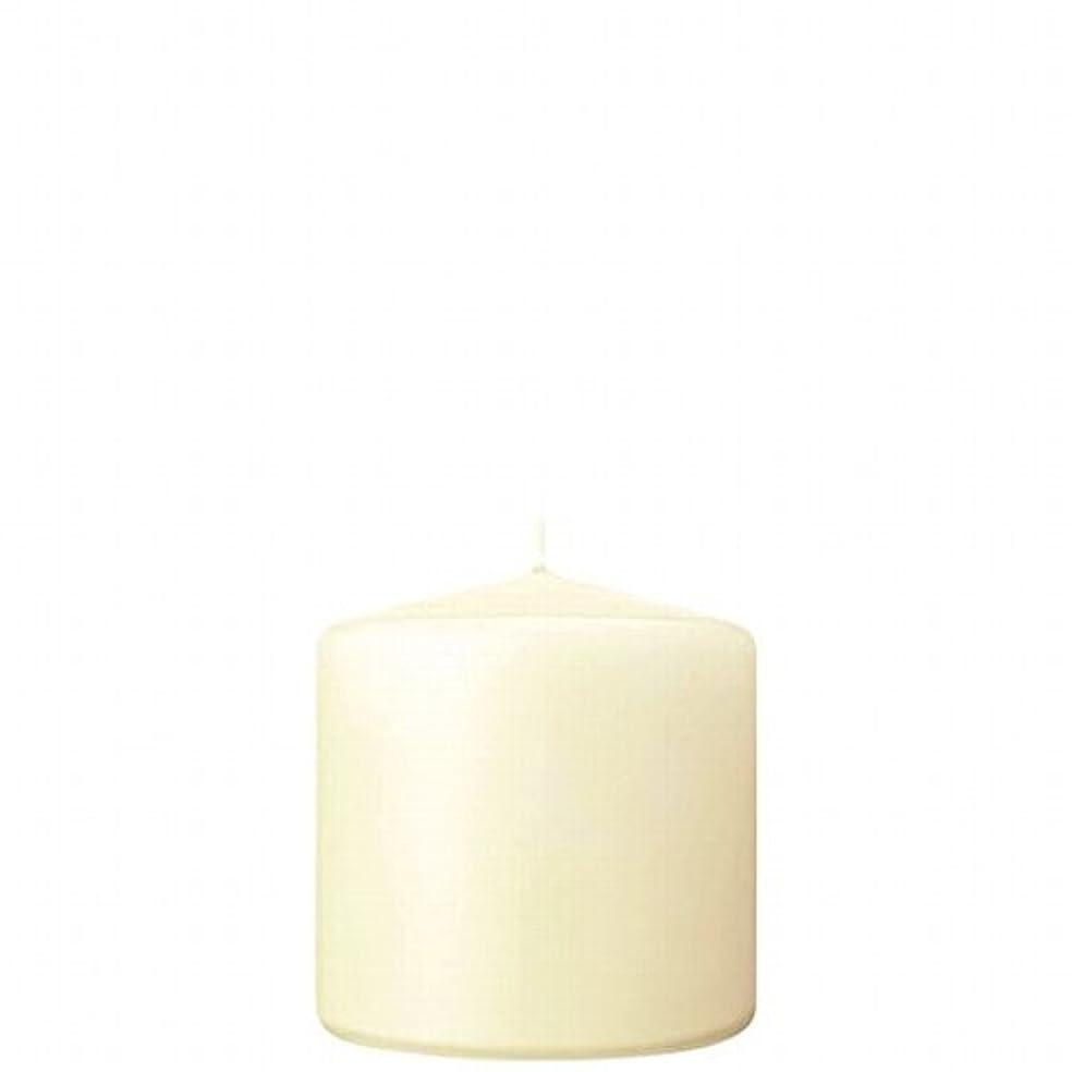 干渉する政権神学校カメヤマキャンドル( kameyama candle ) 3×3ベルトップピラーキャンドル 「 アイボリー 」