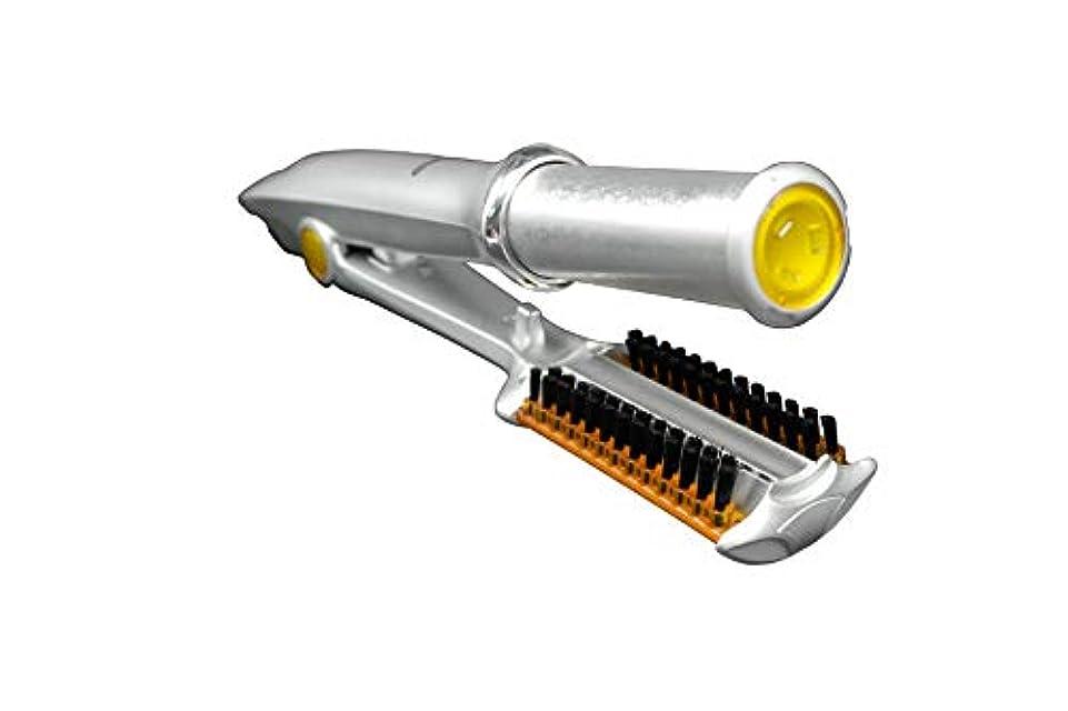 欠陥適合するスポンジ360度回転アイアンヘアカーラー - ストレート/デジタルパーマ/カール 自動ヘアカーラーストレートヘアスプリントグリーン合金多機能ストレートストレートヘアカーラー