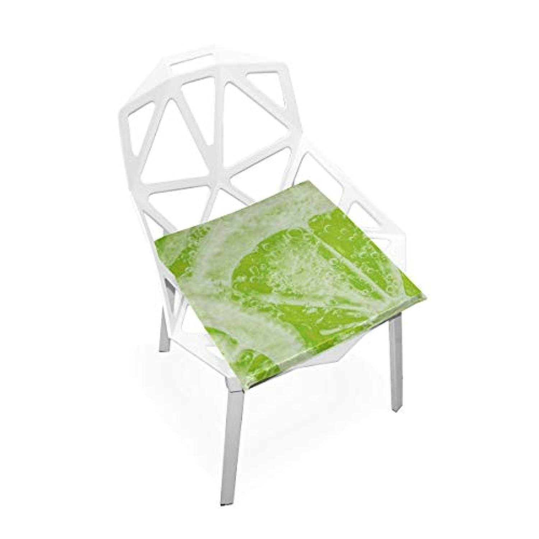 座布団 低反発 レモン グリーン ビロード 椅子用 オフィス 車 洗える 40x40 かわいい おしゃれ ファスナー ふわふわ fohoo 学校