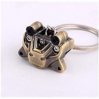 Novelty Car Modified Brake Pump Keychain Engine Brake Charm Pendants Keyrings for Car Key Purse Bag Key Ring(Bronze) Bag Pendant