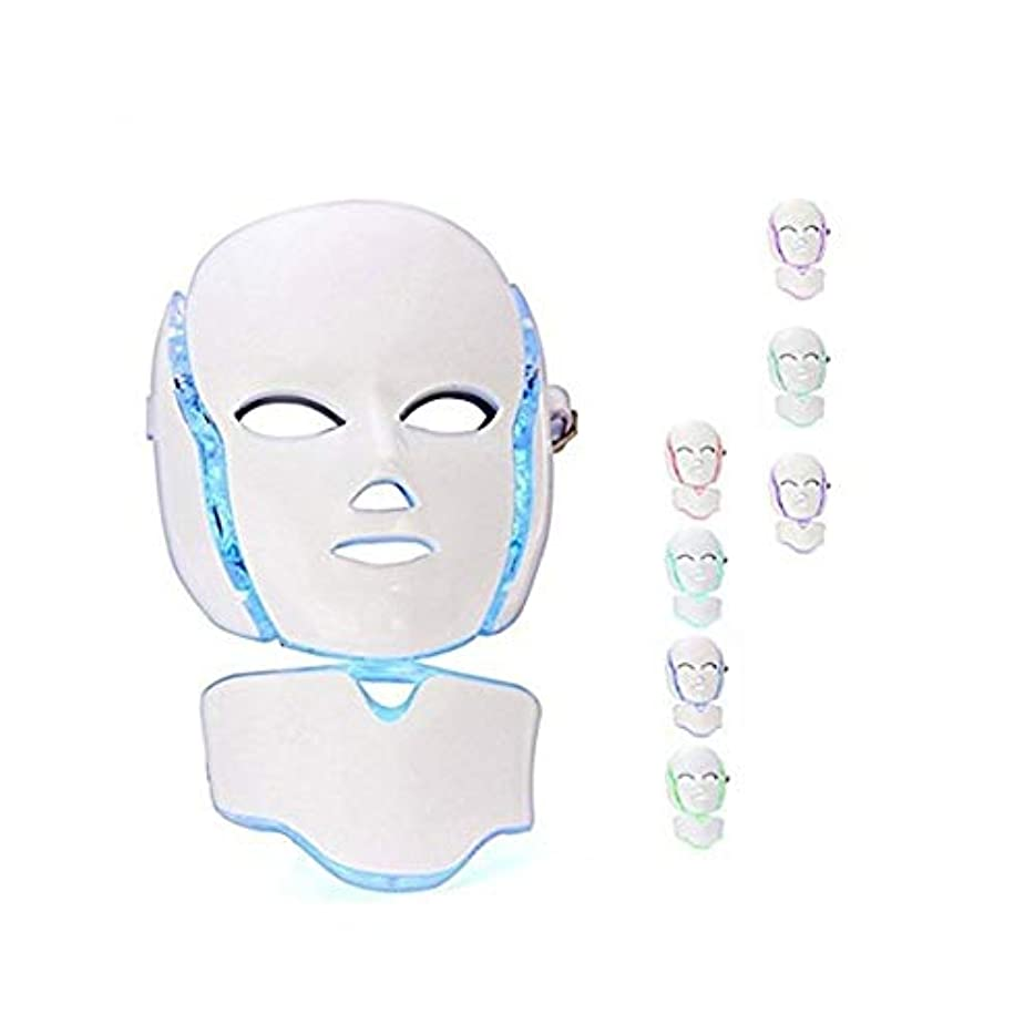 エッセイ多様な試験7色のLEDフォトン顔はしわのためのセラピー・フェイシャル&ネックビューティースキンケアマスクマスク、にきびアンチエイジング&健康的な肌の若返りコラーゲン