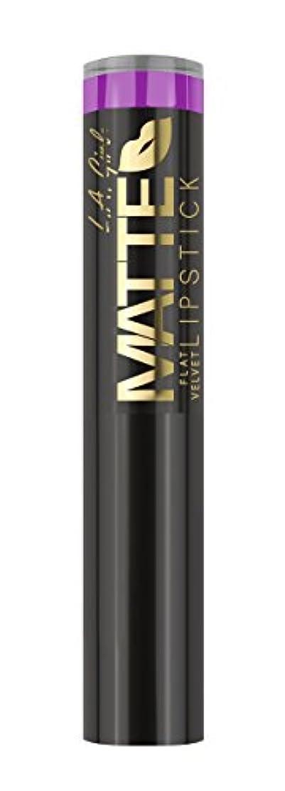 キャストペチコート戦争L.A. GIRL Matte Flat Velvet Lipstick Giggle (並行輸入品)