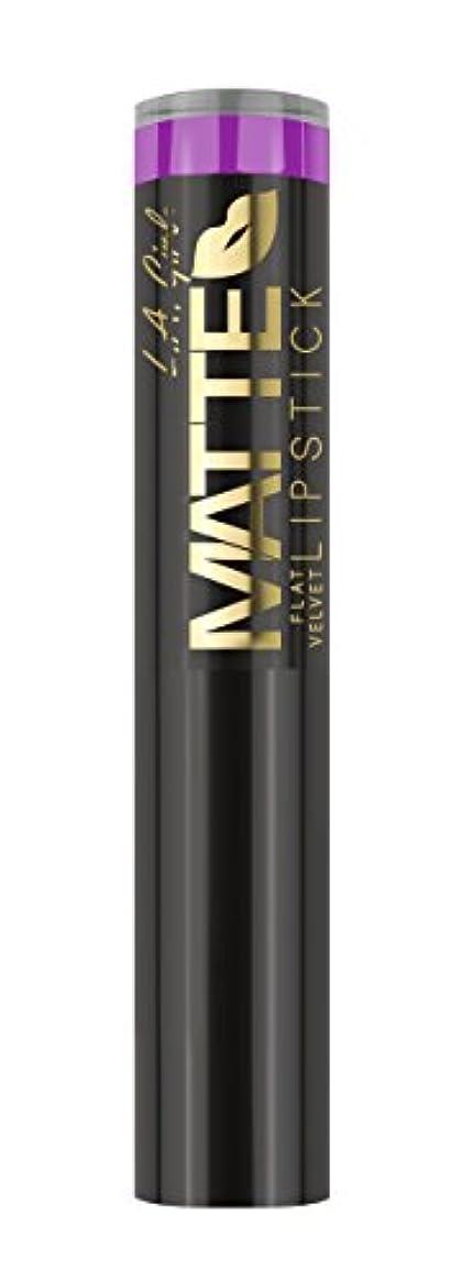 不利益光のおかしいL.A. GIRL Matte Flat Velvet Lipstick Giggle (並行輸入品)