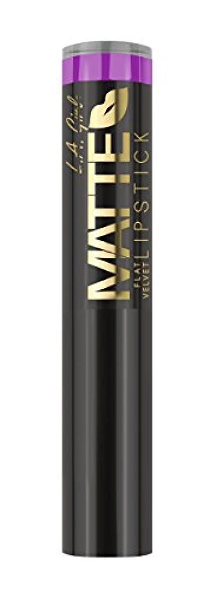 神社祭り致死L.A. GIRL Matte Flat Velvet Lipstick Giggle (並行輸入品)