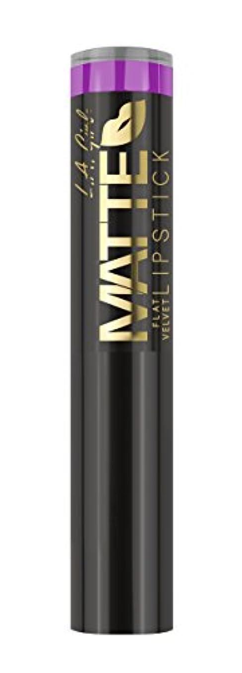 パック牽引薄めるL.A. GIRL Matte Flat Velvet Lipstick Giggle (並行輸入品)