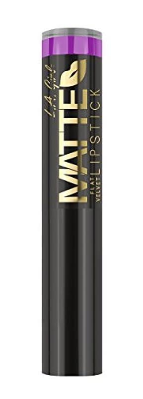 バイアス準拠乱れL.A. GIRL Matte Flat Velvet Lipstick Giggle (並行輸入品)