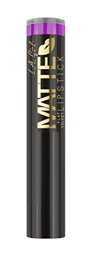 エゴイズム制限する強要L.A. GIRL Matte Flat Velvet Lipstick Giggle (並行輸入品)