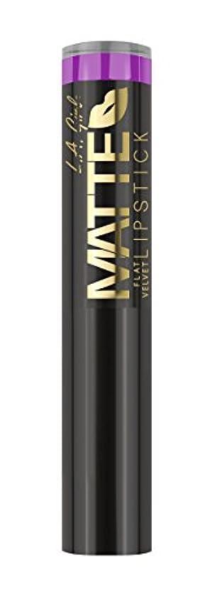 ボーナスアクセント愛情深いL.A. GIRL Matte Flat Velvet Lipstick Giggle (並行輸入品)