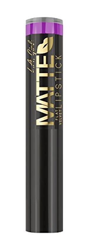 申し込むセミナー交流するL.A. GIRL Matte Flat Velvet Lipstick Giggle (並行輸入品)