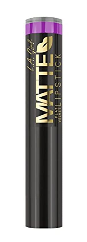 開業医突き出す不屈L.A. GIRL Matte Flat Velvet Lipstick Giggle (並行輸入品)
