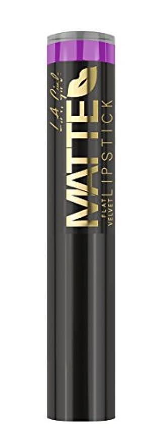 アクセント田舎取るに足らないL.A. GIRL Matte Flat Velvet Lipstick Giggle (並行輸入品)
