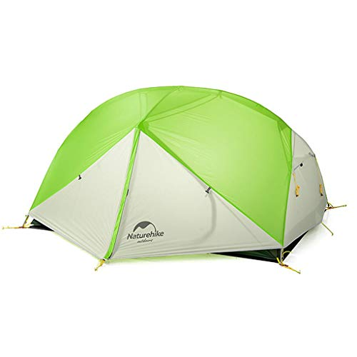 Naturehike 1人用/2人用 Mongar 超軽量 二重層 自立型 ドーム型 登山テント アウトドアキャンプ テント 自転車ツーリング 日除け 虫よけに 防雨 防風 防災 グランドシート付き (緑と灰色)
