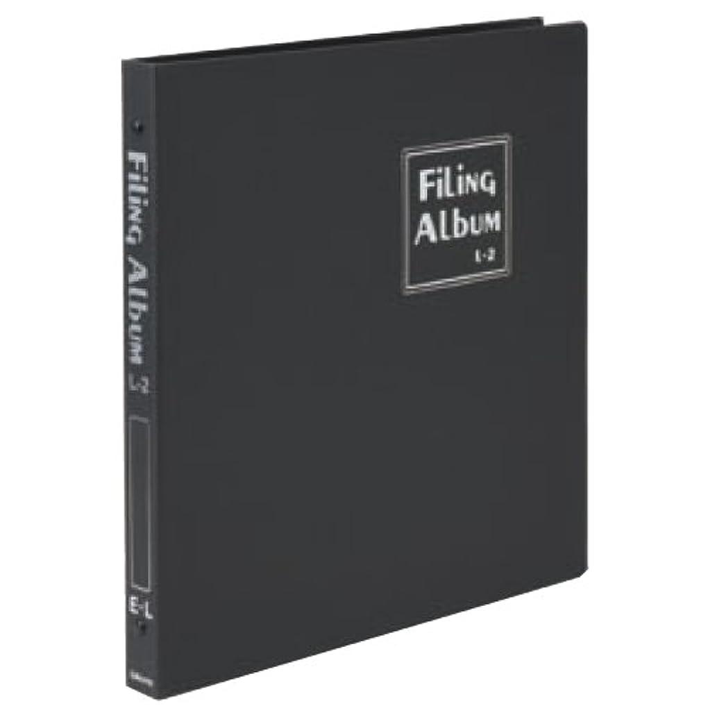 マインドフルファシズムキャンバスChikuma アルバム ポケット ファイリングアルバムL-2 L 101~150枚 ブラック 25121-7