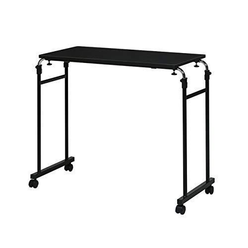 永井興産 (NAGAIKOSAN) 伸縮式 ベッド テーブル ブラック NK-512BK