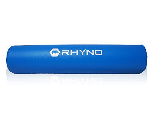 スクワットパッド バーベル シャフト パット 高級 PUレザー/肩 首 をサポート 保護/色選択可【RHYNO ライノ】 (スカイブルー)